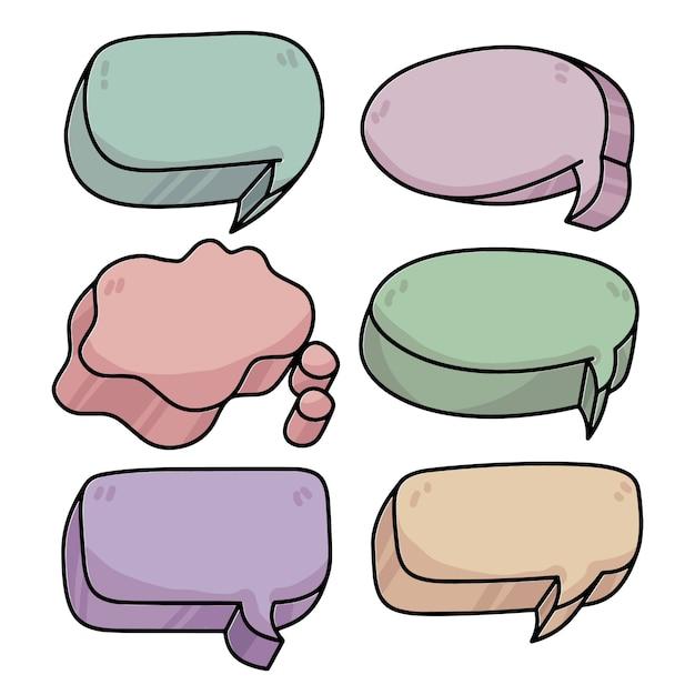 クールなコミック3 dスピーチ泡会話 Premiumベクター