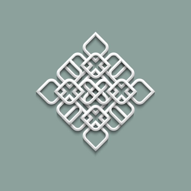 アラビア風の3 dパターン Premiumベクター