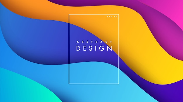 折り紙の形をした紙アート3 dの抽象的な背景 Premiumベクター