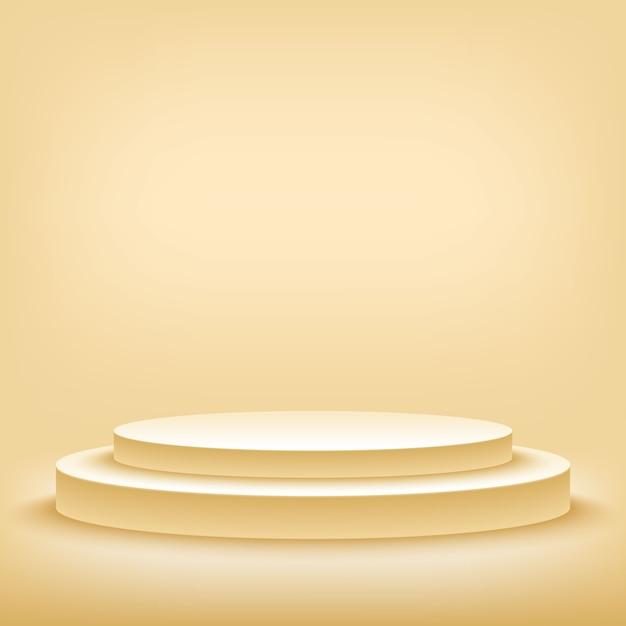 空白のテンプレートの3 dイラストレーション Premiumベクター