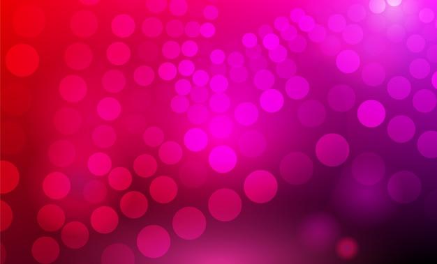 サークルと3 dの抽象的な紫、ピンク、赤の背景 Premiumベクター