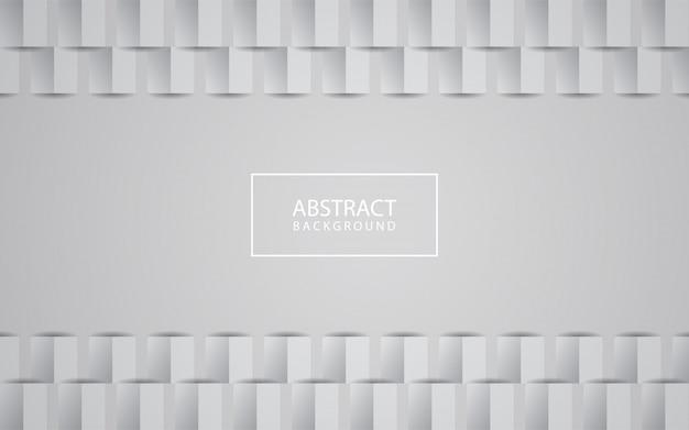 白の抽象的なテクスチャ背景3 dペーパーアートスタイル Premiumベクター