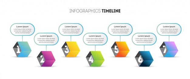 3 dキューブのビジネスインフォグラフィックテンプレート。 Premiumベクター