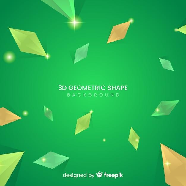 3 dの幾何学的図形の背景 無料ベクター