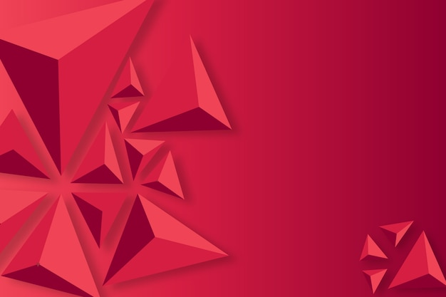 3 dの三角形の概念と背景 無料ベクター