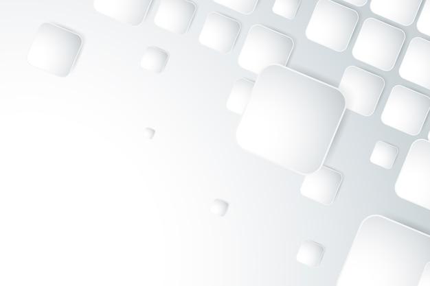 白い3 dペーパースタイルの壁紙 無料ベクター