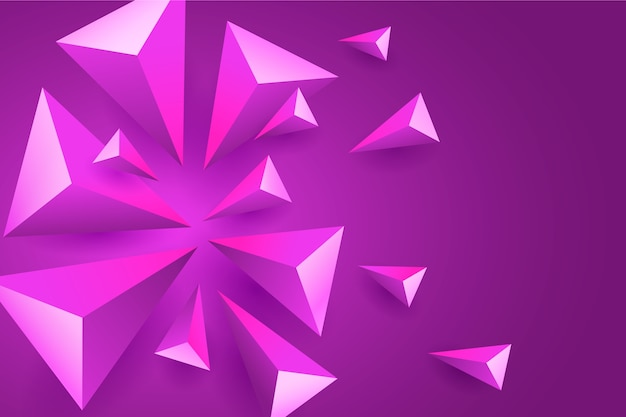 3 dバイオレット多角形の背景 無料ベクター