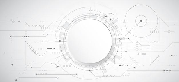 技術のドットとラインで抽象的な3 dデザインの背景 Premiumベクター