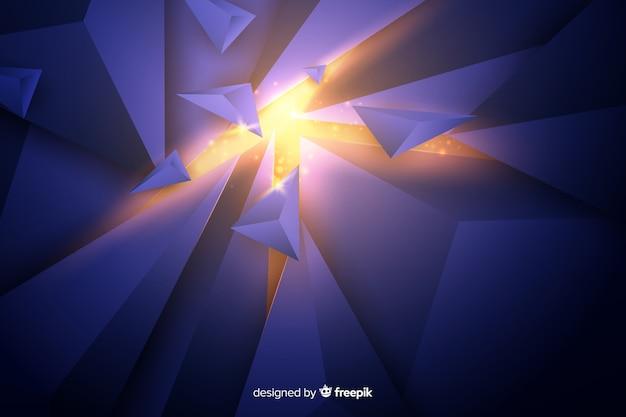 明るい背景と3 dの爆発 無料ベクター