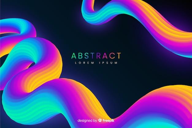 3 dの流体形状と抽象的な背景 無料ベクター