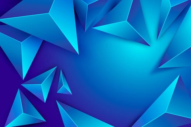 ポリ効果と3 dの三角形の青い背景 無料ベクター