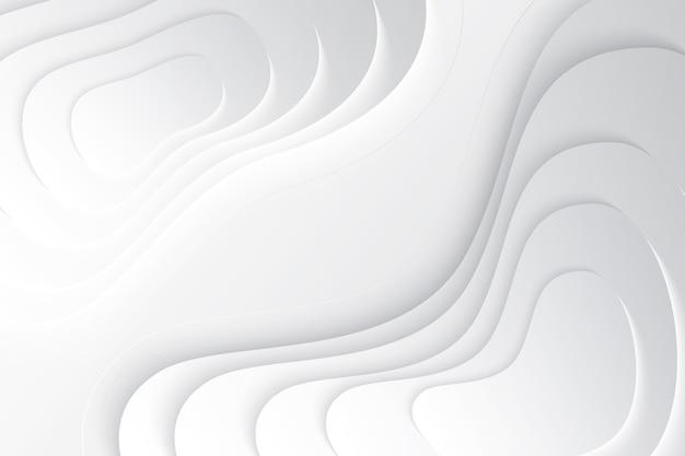 シンプルな波状の3 d背景 無料ベクター