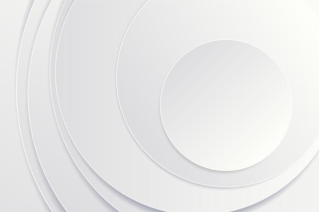 3 dペーパースタイルの円形の背景 無料ベクター