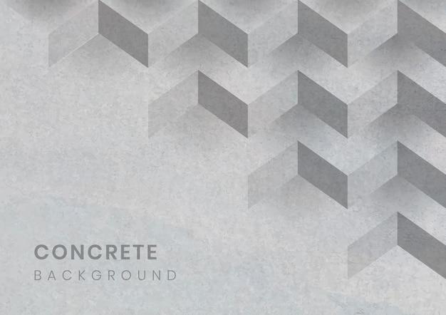 グレーの3 d幾何学的なモダンな背景 無料ベクター