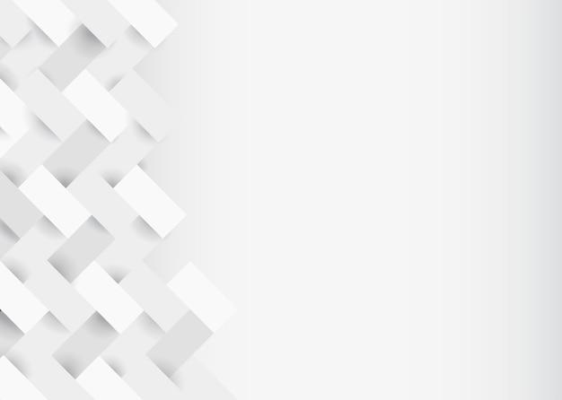 白の3 dモダンな背景デザイン 無料ベクター
