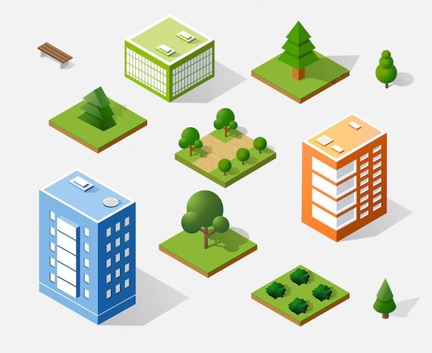 等尺性3 dの木 Premiumベクター