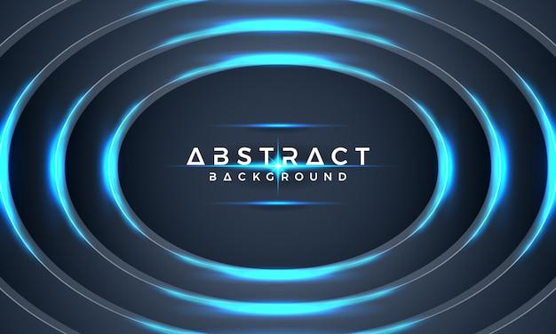 抽象的なブルーサークルメタリック3 dのベクトルの背景。 Premiumベクター