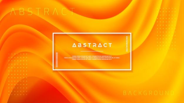オレンジ色の3 dスタイルの織り目加工の背景デザイン。 Premiumベクター