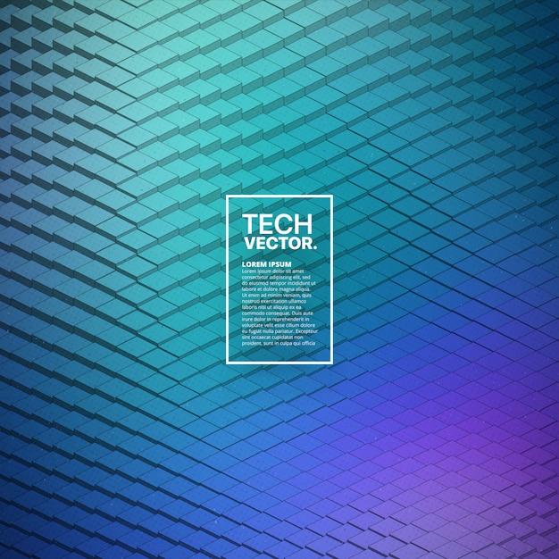 技術3 d波形抽象的なベクトルの背景 Premiumベクター