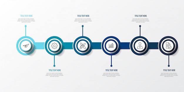 3 dテーブルと青いインフォグラフィック Premiumベクター