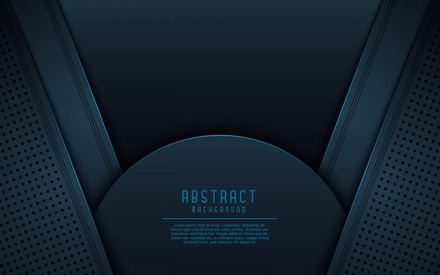 暗い抽象的な3 d背景。 Premiumベクター
