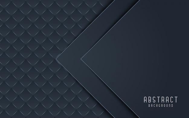 抽象的な背景黒とグレーの3 dスタイル。 Premiumベクター