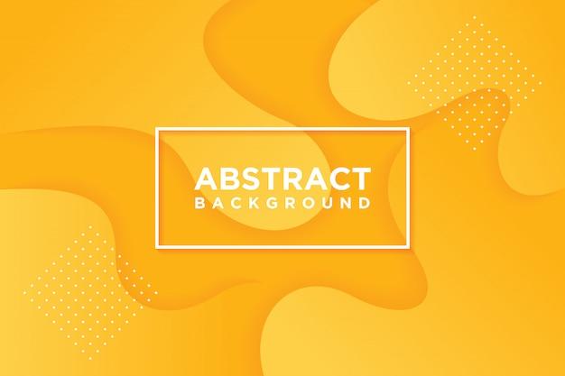 現代のベクトルテンプレート。オレンジ色で抽象的な3 d背景。 Premiumベクター