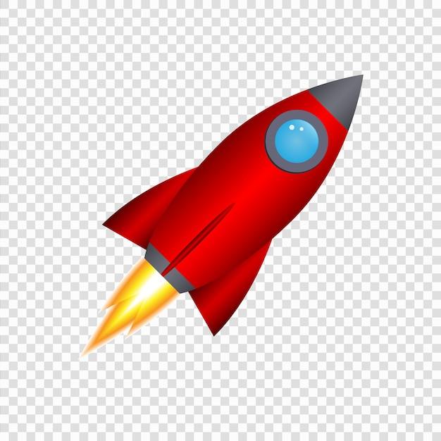 3 d漫画ロケット Premiumベクター