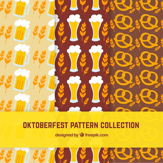 3 patterns for oktoberfest