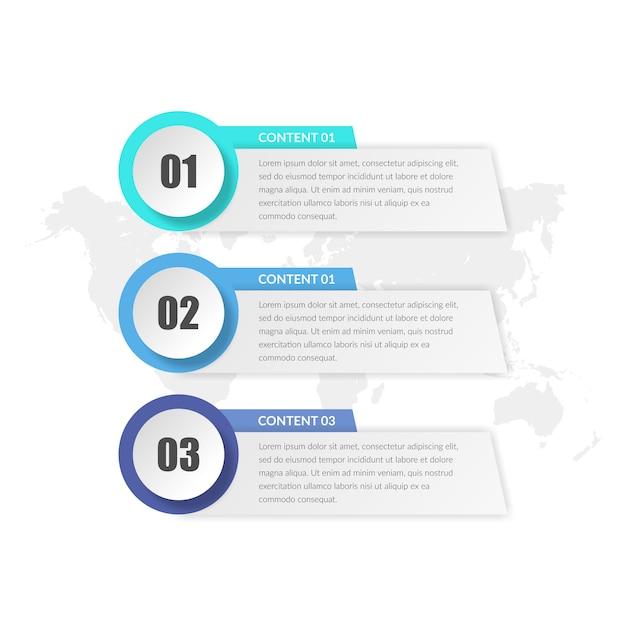 3つのpoingビジネスインフォグラフィック要素の設計 Premiumベクター
