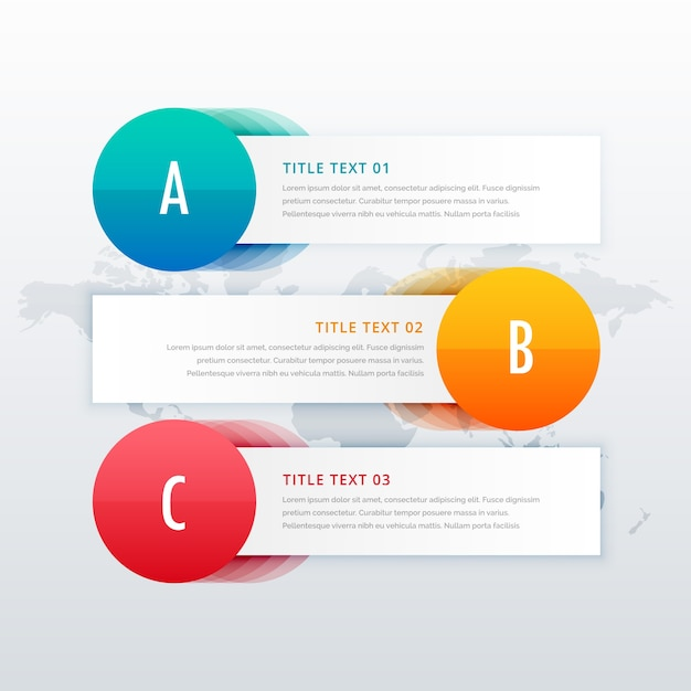 3 steps infographic template banners with space for text premium vector
