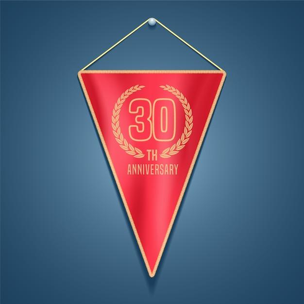 30 лет юбилей векторный логотип Premium векторы