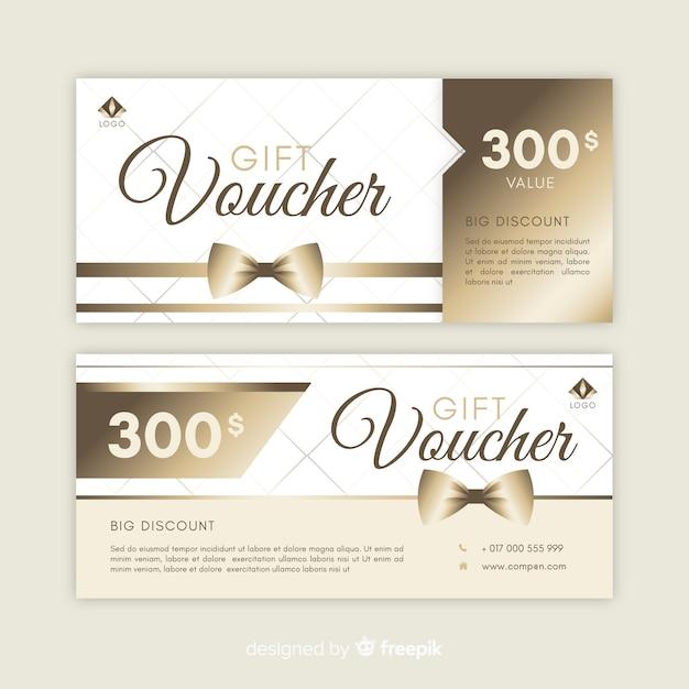 Подарочный сертификат на 300 $ Бесплатные векторы