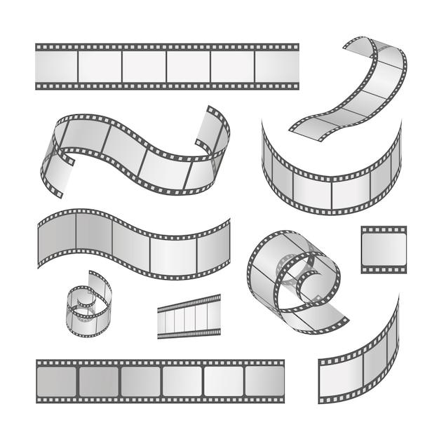 Рамка для слайд-пленки, рулон 35мм. медиа диафильм негатив и стриптиз Premium векторы
