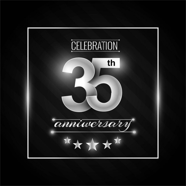 35th anniversary background Free Vector