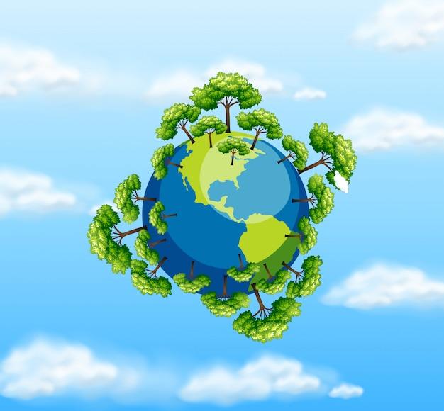 360 degree earth view Vector | Premium Download