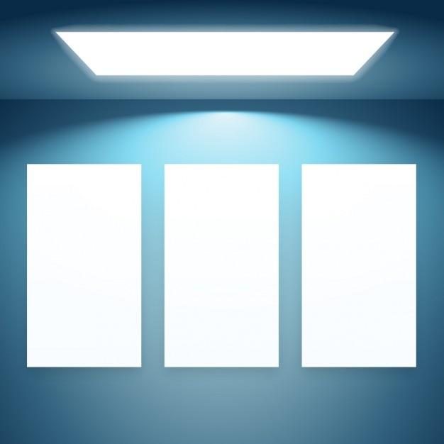 ライトが付いている3プレゼンテーションフレーム 無料ベクター