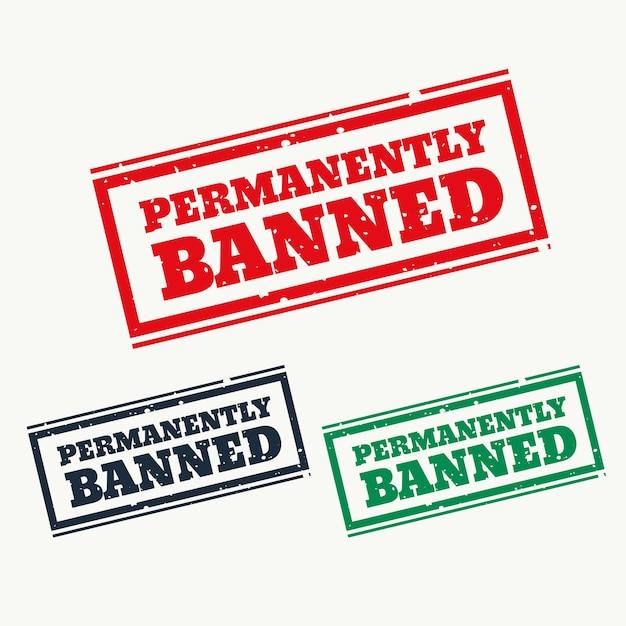 恒久的に禁止された3色のサイン 無料ベクター