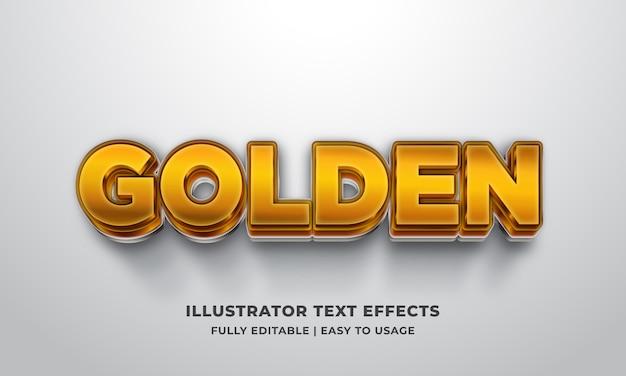 Золотой 3-й текстовый эффект Premium векторы