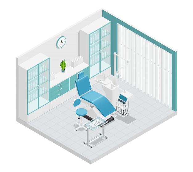 Стоматология стоматология изометрическая 3 д состав кабинета Бесплатные векторы
