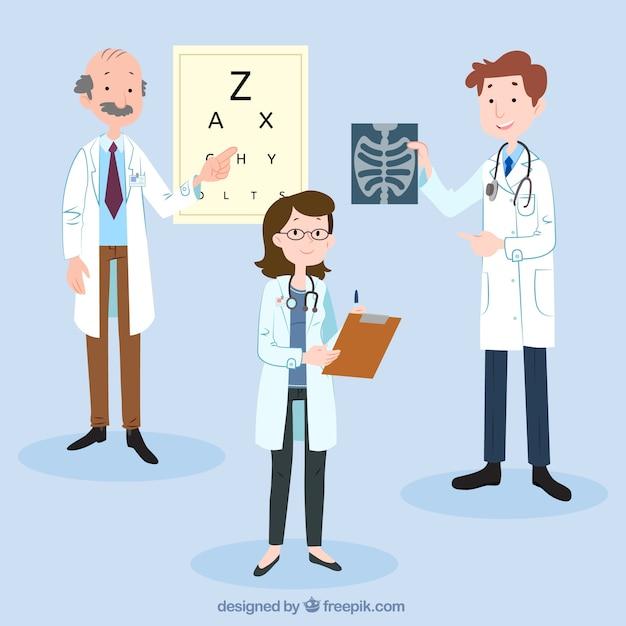 3つの博士のキャラクターコレクション 無料ベクター