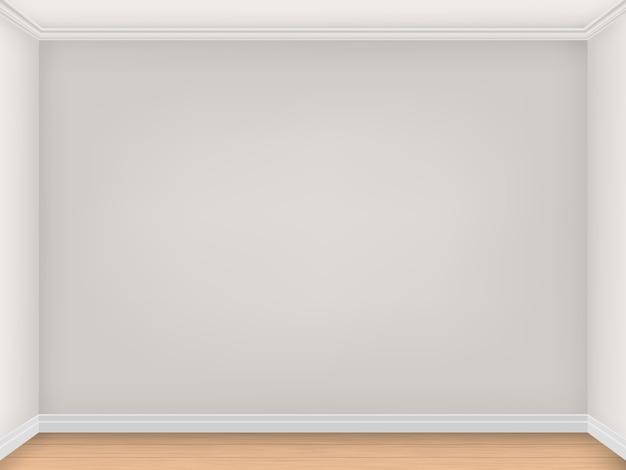 ベージュの壁が3つ付いた空の部屋。 Premiumベクター