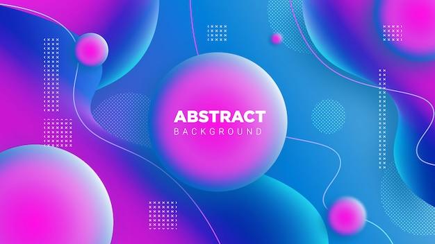 青のグラデーション3d abstrack背景 Premiumベクター