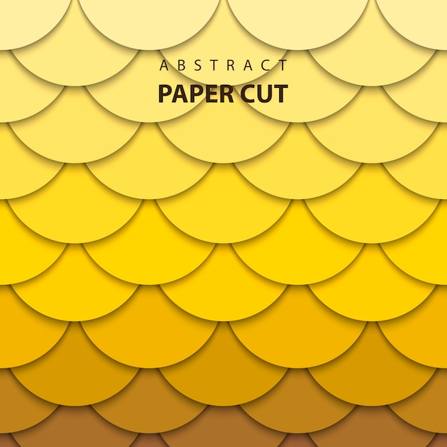 3d abstract paper art style Premium Vector