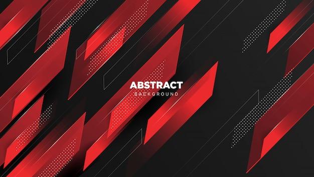 3d abstract red dark background Premium Vector