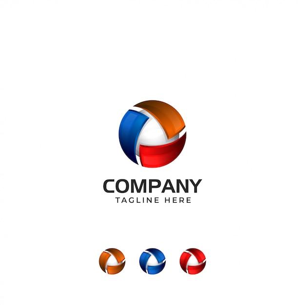 3d abstract technology logo Premium Vector