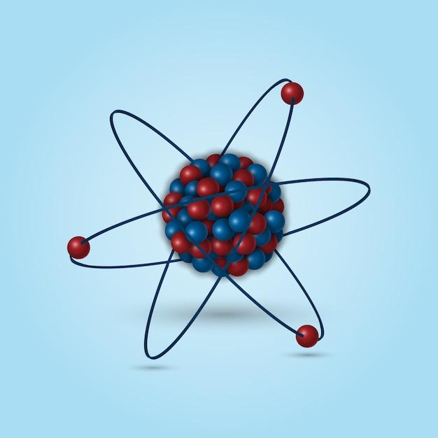 3d atomic structure Premium Vector