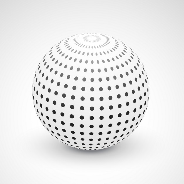 3d background with a sphere Vector | Free Download