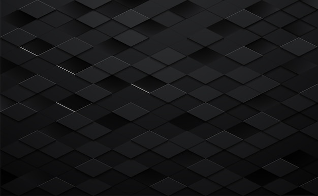 3d black square background Premium Vector