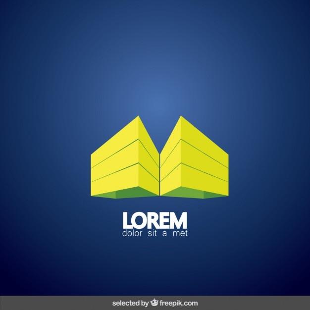3d Building Real Estate Logo